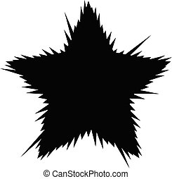 Exploding star Vector illustration with divergent rays on a white background.