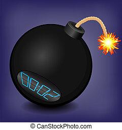 explodir, pretas, aproximadamente, bomba