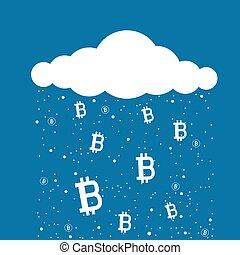 exploitation minière, bitcoin, nuage