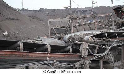 exploitation minière, convoyeur, carrières, 05