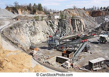 exploitation minière, dans, les, carrière