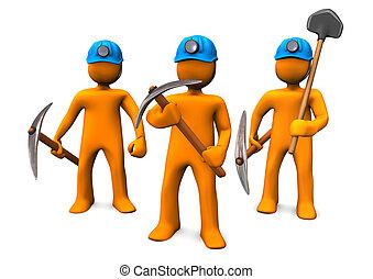 exploitation minière, hommes