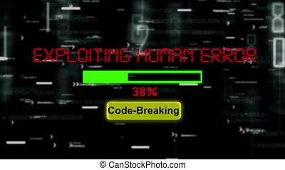Exploiting human error code breaking