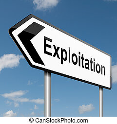 exploração, concept.