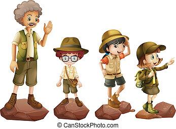exploradores, familia