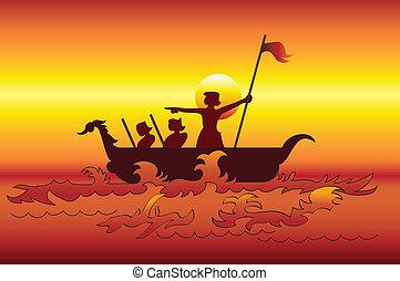 exploradores, mar
