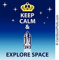 explorar, mantenha, pacata, espaço
