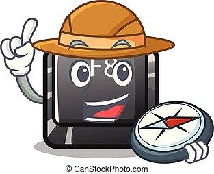 explorateur, f8, bouton, installed, informatique, mascotte