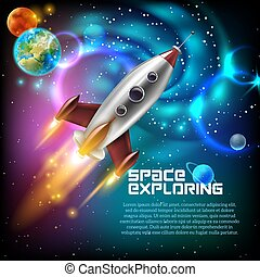 exploration, espace illustration