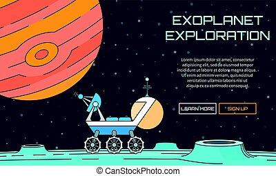 exploration, exoplanet, fond