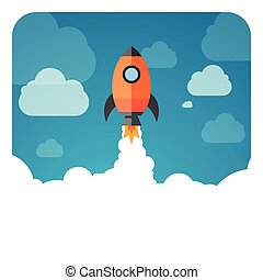 exploration, fusée, espace