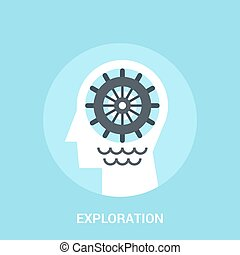 exploration icon concept