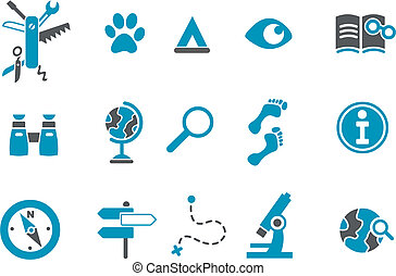 Exploration Icon - Vector icons pack - Blue Series, ...