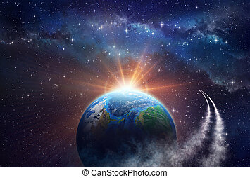 exploration, profond, espace