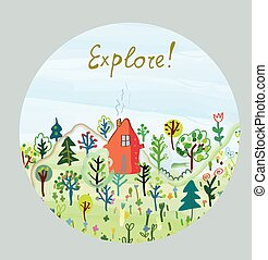 Explore nature card