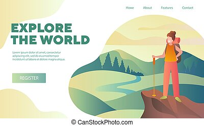 Explore The World and nature travel template