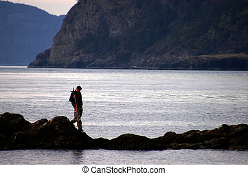 Explorer 99 - man walking on shore