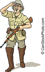 Explorer and hunter - British style explorer and hunter...