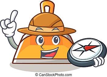 Explorer dustpan character cartoon style vector illustration