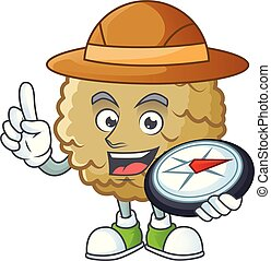 Explorer fresh marolo fruit character mascot in cartoon