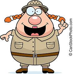 Explorer Idea - A happy cartoon explorer with an idea.