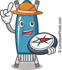 Explorer iron board mascot cartoon