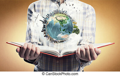 explorer, monde, autour de, nous