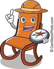 Explorer rocking chair in the cartoon shape