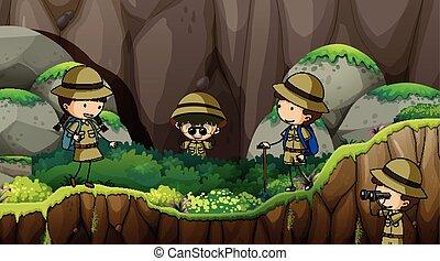 explorer, scout, gosses, nature