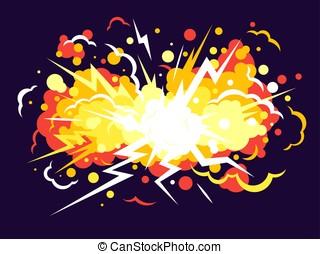 explosão, caricatura, fundo