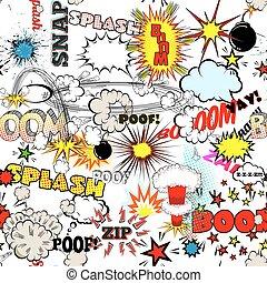 explosão, diferente, explosão, set., seamless, livro, ...