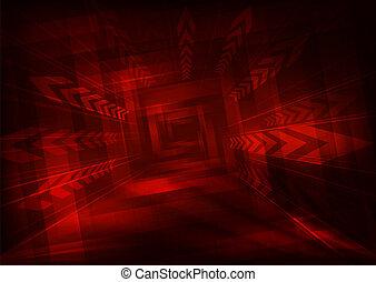 explosão, effect., abstratos, escuro, desenho, setas, vermelho