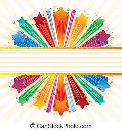 explosão, estrela, coloridos