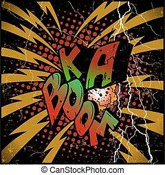 explosão, ka-boom