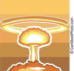 explosão nuclear