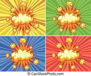 explosões