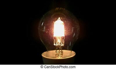 exploser, arrière-plan noir, ampoule, lumière