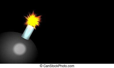 exploser, bombe, animation