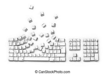 exploser, clavier