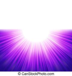 explosión, de, azul, rayos, tenplate., eps, 8