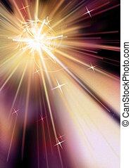 explosión de la estrella