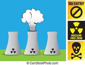 explosión nuclear, reactor