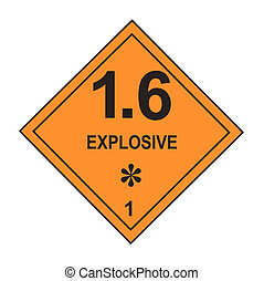 explosief, waarschuwingsetiket