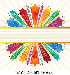 explosion, étoile, coloré