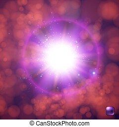 explosion., étoile, supernova, éclater, réaliste, incandescent, soleil, clair