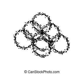 Explosion abstract circles