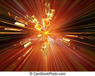 explosion, blast - Explosion, broken glass, burst of light,...