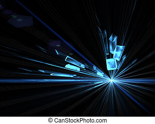 explosion, blast - Explosion, broken glass, burst of light,