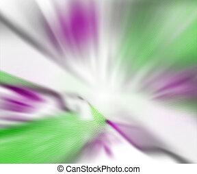 Explosion Blur White Green Background
