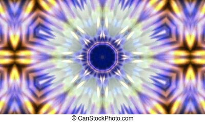 explosion budhist flower pattern, kaleidoscope, music concert disco neon texture.